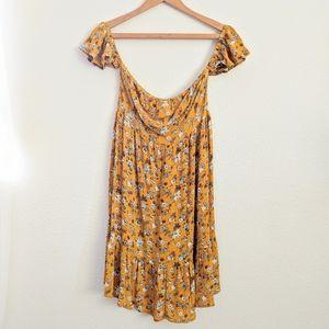 Mossimo Peasant Style Boho Tube/Off Shoulder Dress